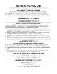Licensed Vocational Nurse Lvn Resume Sample Resume Examples