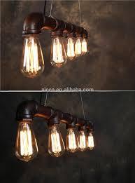industrial loft lighting. Modern Edison Bulb Pipe Pendant Light With Vintage Industrial Loft Black Brass Metal Lighting