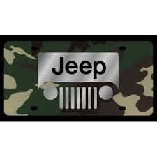 jeep grill logo. Contemporary Grill Jeep Grill Logo Green Camo License Plate Inside I
