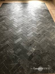 Slate Tile Floor Designs Slate Herringbone Entry Way A Timeless And Durable Design