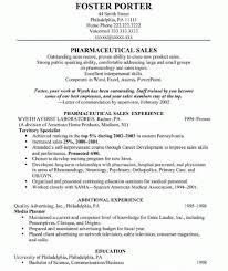 Pharmaceutical Sales Resume Examples Of Resumes Sample Entry Level