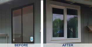 window replacement before and after. Plain Before Vinyl Window Replacement Before U0026 After Inside And