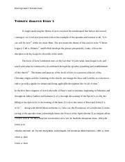 thematic analysis essay thematic analysis essay acts  3 pages thematic analysis essay 1