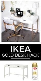 White and Gold Desk: Ikea Hack | Ikea hack, Desks and White desks