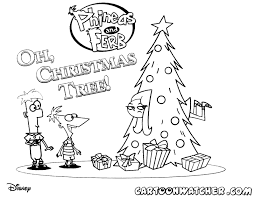 Small Picture phineas and ferb christmas coloring page christmas Pinterest