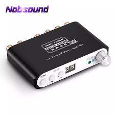 Nobsound Mini HiFi 2.1 Subwoofer DSP Bluetooth 5.0 Hi Fi TPA3116 Digital  Power Stereo Amplifier for Speaker Amplifier