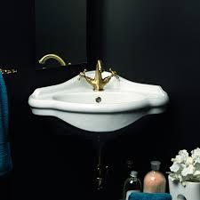 ws bath collections contea 60 wall mounted bathroom corner sink 23 2 x
