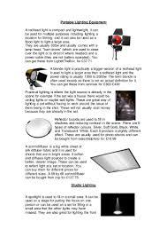 Lighting Assessment