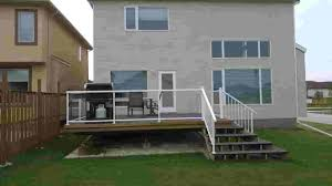 framed clear glass deck railing winnipeg