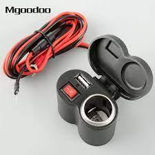 Mgoodoo 1 adet araba motosiklet USB şarj sistemi su geçirmez çakmak USB güç  şarj soketi USB DC12V için ATV tekne araba|