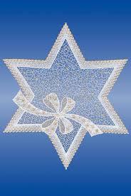 Plauener Spitze Fensterbilder Weihnachten Festlicher Stern