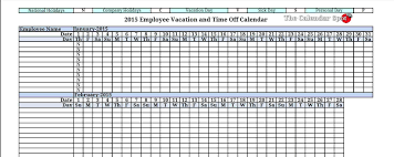Request Off Calendar Template Free Online Employee Vacation Calendar Personalized