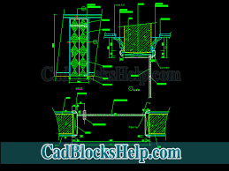 tempered glass door cad drawings