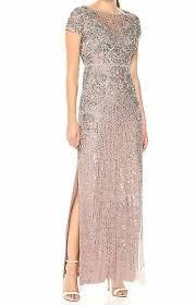Aidan By Aidan Mattox Womens Beaded Illusion Gown 874 80