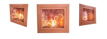 living c ki series by hearthcabinet ventless fireplaces hand painted tile by melinda