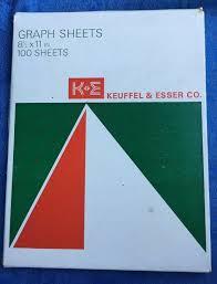 K E Keuffel Esser Graph Sheets Paper 46 7283 Orange Logarithmic 2 X 2 7 Cycles