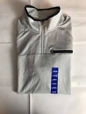 fila 1 4 zip. fila shirt top 1/4 zip pullover gray long sleeve neutral pocket black wick strip 1 4