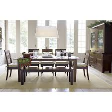 basque java 82 dining table basque crates and barrels dining table crate and barrel