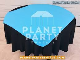 black round tablecloth with overlay 002