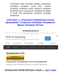 Production Schedule Template Excel Free Download Free Excel Spreadsheet Templates Forms Fillable