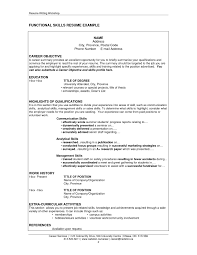 Resume Template Combined Functional Samples Examples Format With