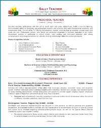 Early Childhood Education Resume Awesome Sample Teacher Resume Like The Bold Name With Line College