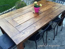 Creative of DIY Patio Table Diy Outdoor Table Spoonful Of Imagination