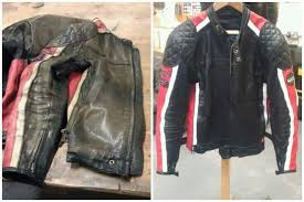 leather jacket repair jacket before and after