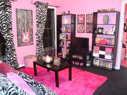 pink modern bedroom designs. Teens Room : Cute Pink Teen Girls Bedroom Design Ideas With Rectangle Black Varnished Wood Table And Fluffy Modern Carpet Also Designs A