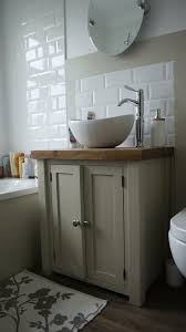 chunky rustic painted bathroom sink vanity unit wood shabby chic farrow ball