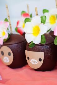 moana birthday party ideas coconut cups project nursery