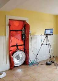 A blower door test will help you discover and seal leaks in your home.  Photo By Fotolia/Macdreid. Solar Thermal Heating Systems