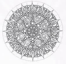 Small Picture Mandala Pattern Mandala Free Printable Mandala Coloring Pages