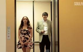 people inside elevator. unexpected entertainment inside the elevator people