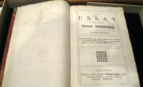 "rare collectible books com marked ""1689 "" the title page in schaberg s rare first edition of locke s essay concerning human understanding most famous for the expression ""tabula"