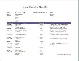 Weekly Household Cleaning Schedule Checklist Template Weekly House Cleaning Schedule My Free