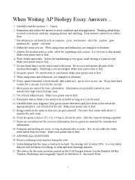 ap biology response essay writing guide evolution genetics