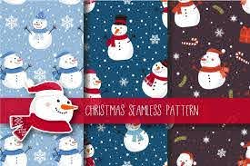 Christmas Seamless Pattern Snowman Graphic By Jannta Polar Bear Christmas Pattern Pattern Design