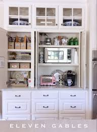 Cabinet For Kitchen Appliances Eleven Gables Hidden Appliance Cabinet And Desk Command Center In