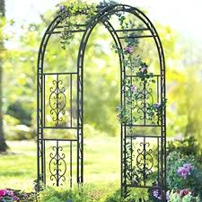 wrought iron garden arch with gate china unique metal wedding for plants climbing wrought iron garden arch