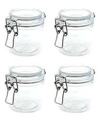 acrylic storage jars glass