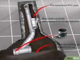 how to rough plumb a basement bathroom