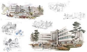architecture design concept. Hotel Architectural Design Conceptual Sketches Pencil Watercolor Designer Shalumov Architecture Concept C