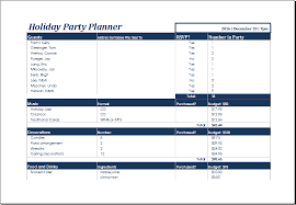 Party Planner Spreadsheet Ms Excel Printable Holiday Party Planner Template Excel Templates