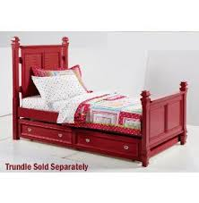 Red Twin Bed Frame   Twin Poster Bed   Youth Bedroom   Bedrooms ...