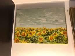 sunflower oil painting 35 5cm length x 25 5cm breadth furniture home decor on carou
