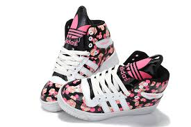 adidas shoes high tops pink and black. black pink adidas mickey noctilucence tongue skateboard shoes women high tops and t