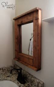 wooden bathroom mirrors. Incredible Bathroom Mirrors Wood Frame Mirror Diy Shanty 2 Chic Wooden R