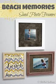 diy sand photo frames for a souvenir to display your beach vacation memories stuffedsuitcase com