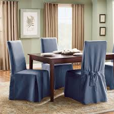 dining table chair covers. Chair Slipcovers With Arms. Sure Fit Cotton Duck Full Length Dining Room For Table Covers M